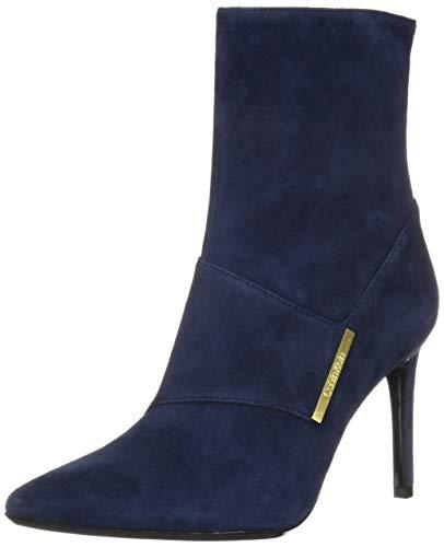 Calvin Klein Women's Ruthie Ankle Boot, Dark Navy Suede, 7.5 M US