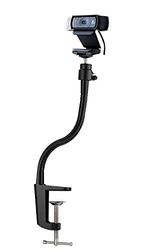 13.3 Clamp Gooseneck Mount Camera Jaws Stand for for Logitech Webcam Brio 4K, C925e,C922x,C922,C930e,C930,C920,C615 AceTaken