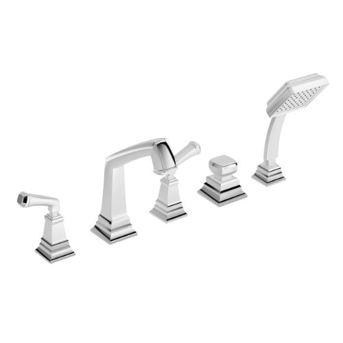 Symmons Srt-4272 Oxford 2-Handle Roman Tub Faucet With Hand Spray, ()