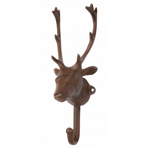 Wall Hook - Elk Cast Iron Coat Hook & Key Rack (1)