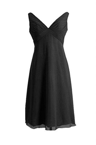 Daisyformals V-cou Robe De Soirée Longueur Genou Robe De Demoiselle D'honneur Empire (bm7726) # 52 Noir