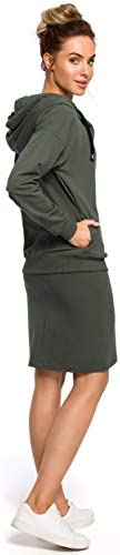 MOE - made of emotion Hoodie mit Reißverschluss und Krawattenschnüre - Military Green
