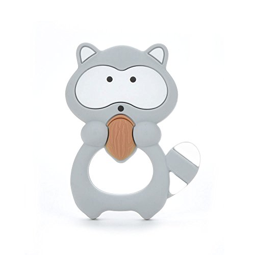 Silicone Raccoon Teether Pendant BPA Free Teething Toys Baby Teether Teething Accessory