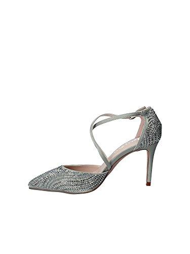 V18163 Alma De Satinado Mujer Pena En Gris Tacã³n Zapato xYZwq4YrB
