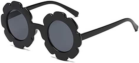TOOGOO Vintage Kids Sunglasses Sun Glasses Round Flower Glasses Baby Children Uv400 Sport Sunglasses Girls Boys Black