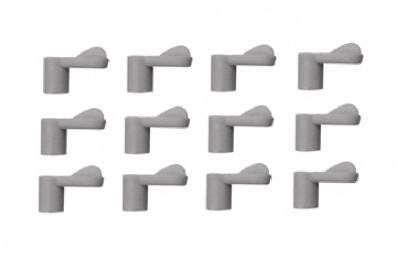 Slide-Co 12Pk 3/8' Gry Scr Clip Pl 7742 Window & Screen Hardware Prime Line Products 5185483