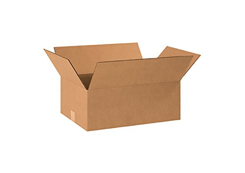 RetailSource Corrugated Boxes, 16'' x 12'' x 6'', (16' Flat Pack)