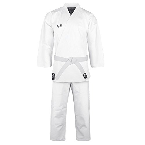 Bad Boy Men's Initiate karate kimono, Bright White, 160cm