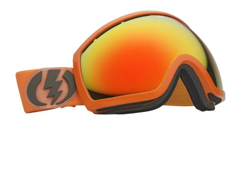 Electric Visual EG2 Snow Goggle, Blood Orange, Bronze/Red Chrome, Outdoor Stuffs