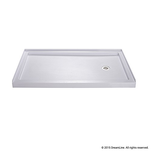 DreamLine SlimLine 32 in. x 60 in. Single Threshold Shower Base, Right Hand Drain, DLT-1132602