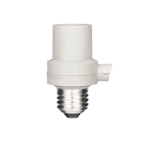 Woods 59405 IndoorOutdoor Light Sensor Socket, Screw-In Auto