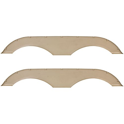 Campers and Trailers Pair of RecPro Tandem Trailer Fender Skirt in Tan for RVs