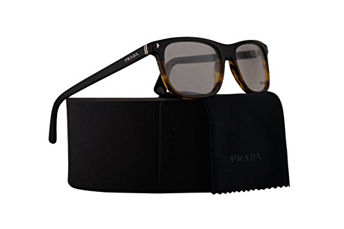 Prada PR03RV Eyeglasses 55-18-145 Black Striped Havana w/Demo Clear Lens TFJ1O1 VPR03R VPR 03R PR - Black Pradas