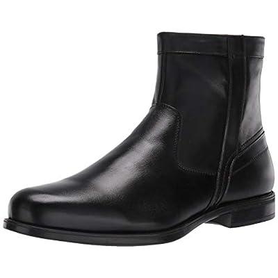 Florsheim Men's Medfield Plain Toe Zip Boot Fashion, Black, 11.5 Medium   Chelsea