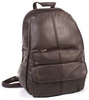 Damen Leder Rucksack mit Reißverschluss umwandelbar Schultergurt ( Schwarz ) SNUGRUGS Wyq6nvSQM