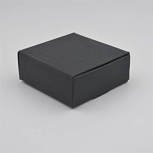 Ranggrgt 10Pcs,Blank Small White Black Soap Cardboard Paper Boxes,Small Black Kraft Paper Craft Box,Candy Gift Packaging Boxes Black 6.5x6x2cm