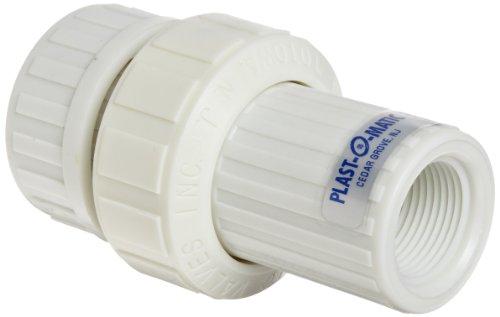 (Plast-O-Matic VBM Series Polypropylene Vacuum Breaker Valve, For Corrosive and Ultra-Pure Liquids, , 1