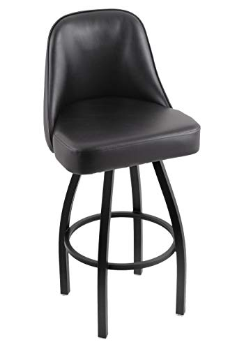 Holland Bar Stool Co. 84036BWBlkVinyl 840 Grizzly Bar Stool, 36