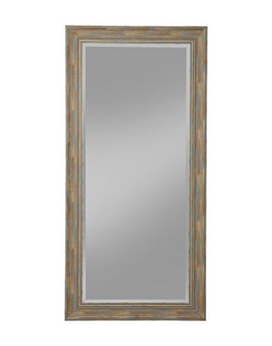 Weathered Blue Finish - Sandberg Furniture Farmhouse, Full Length Leaner Mirror, Antique Turquoise