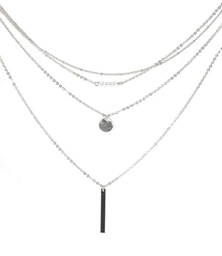 Great Deals 4 U Layering Y Necklace Multi-Layer Multilayer Dainty Chain Choker Necklace for Women