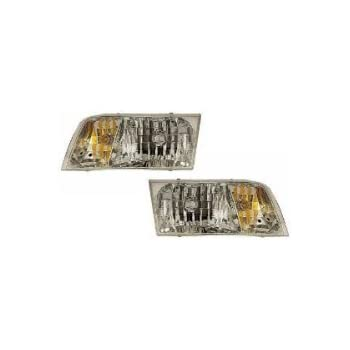 Ford Crown Victoria New Headlights Set Headlamps Pair