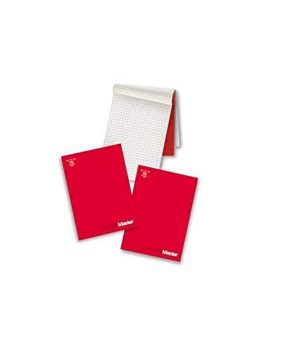 Pigna 0208521BI Blocco Collato A4, 90 Fogli, Rosso, Conf. Da 5 Pz
