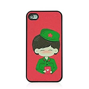 YULIN Marriage Certificate Boy Pattern Dull Polish Hard Case for iPhone 4/4S