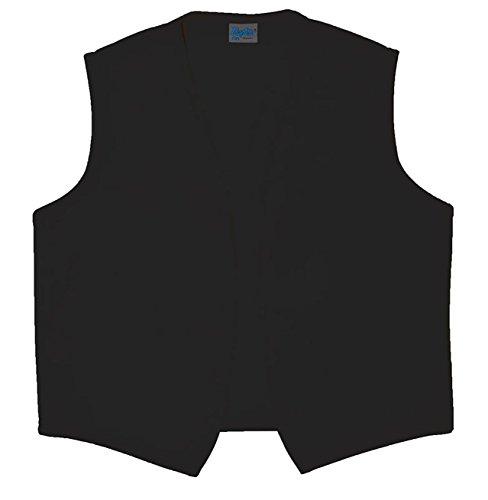 Style A740NP High Quality No Pocket Unisex Uniform Vest - Black, -