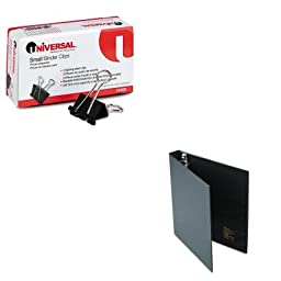 KITAVE79990UNV10200 - Value Kit - Avery Heavy-Duty Binder with One Touch EZD Rings (AVE79990) and Universal Small Binder Clips (UNV10200)