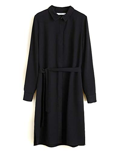 Mango Bow 33045744 Damen Shirt Dress qwgRTqp