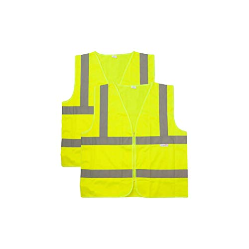 (SAFE HANDLER Reflective Safety Vest | Lightweight and Breathable, Fluorescent Fabric, Hook & Loop Closure, Mesh Fabric, XX-Large, 2 PACK)