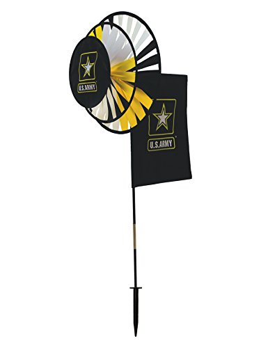 In the Breeze U.S. Army Logo Dual Spinner Wheels with Flag
