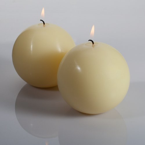 Richland Sphere Candle 3'' Ivory Set of 48 by Richland