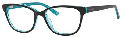620 Eyeglasses (LIZ CLAIBORNE Eyeglasses 620 0DB5 Black Turquoise)