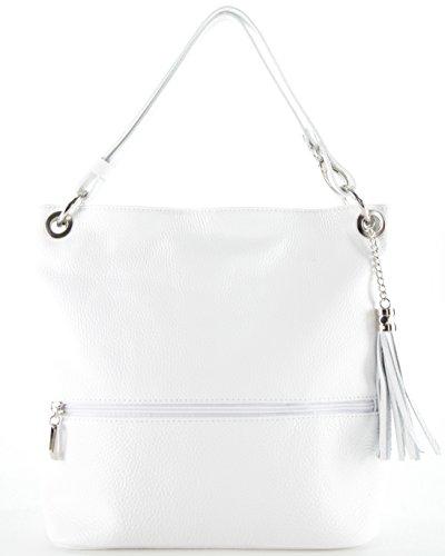Histoiredaccessoires - Sac en cuir pour femme porté sur l'épaule Sa094323-ro-julia Biancobianco