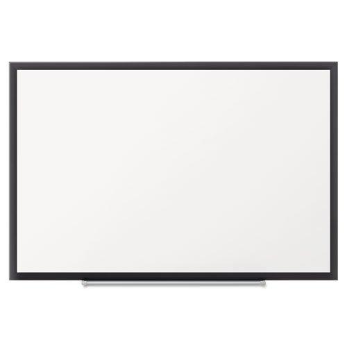 Standard Melamine Whiteboard, 60 X 36, Black Aluminum Frame