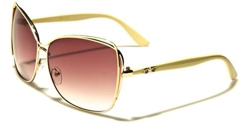 Fashion Eyewear New 2014 Women's High Fashion Celebrity Inspired Sunglasses-DG32161 (Cream - Sunglasses 2014 Celebrity