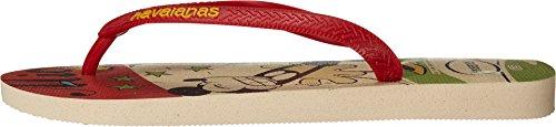 Havaianas Hombres Disney Sandalia Con Estilo Flip Flop Beige / Rojo