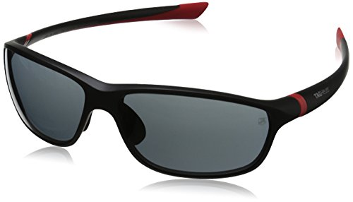 Tag Heuer 27 Degree 6021 102 6021102 Rectangular Sunglasses, Red Matte,Black & Grey Outdoor, 62 - Heuer Sunglasses Tag Mens