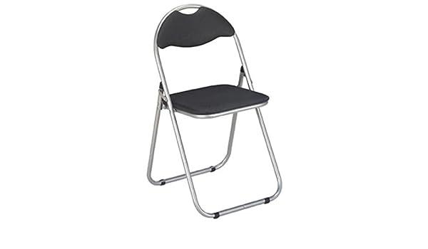 HAKU, 6 Unidades, de sillas Plegables (con Funda PVC Negro ...