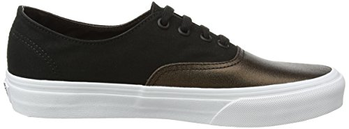 Para Decon Authentic Mujer Ua Canvas Vans Zapatillas metallic Negro Black wFIq64S