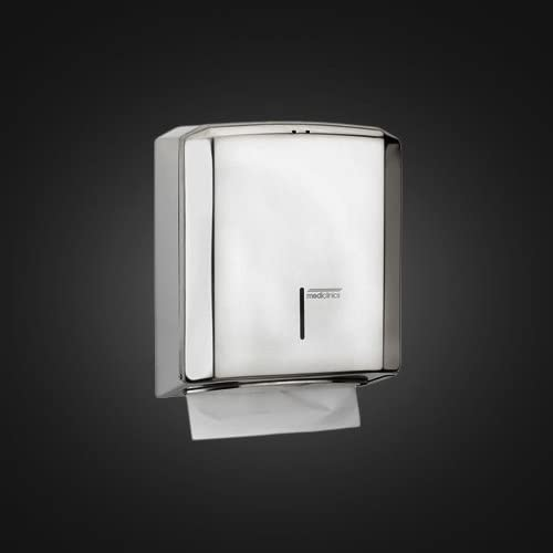 Palucart Dispenser per Asciugamani piegati a V 01010 Colore Bianco Trasparente Elegante e Moderno Attrezzatura Bagno