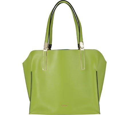 Lodis Women's Blair Unlined Anita East/West Tote,Kiwi/Cobalt by Lodis