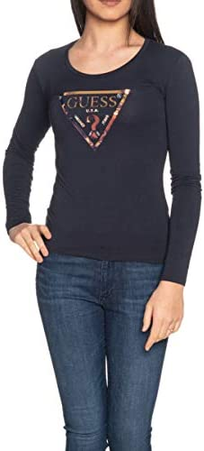 Guess Damska T-Shirt Art W01I76K6YW0 G720 Farbe Foto Größe wählbar, Blau Large: Odzież