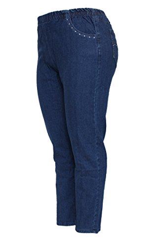 bleu Femme Taille Barfly Darker Blue Fashion Bleu Droit Jeans Unique XxfqB