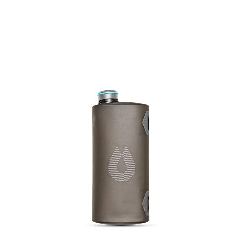 HydraPak Seeker - Collapsible Water Storage (2L/70oz) - BPA & PVC Free Camping Hydration Reservoir - Mammoth Grey