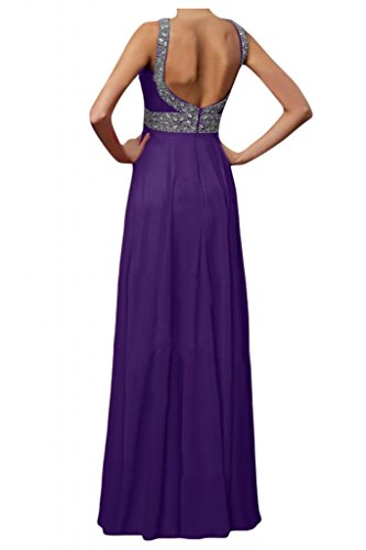 Toscana sposa donna moda Chiffon Rueckenfrei sera vestimento per giovane sposa color Ball Bete party vestimento viola 48