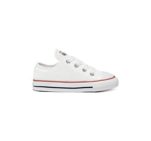 Converse Kids' Chuck Taylor All Star Canvas Low Top Sneaker, Optical White, 1.5 M US Little Kid