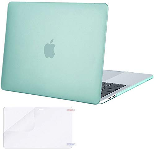MOSISO MacBook Pro 13 inch Case 2019 2018 2017 2016 Release A2159 A1989 A1706 A1708, Plastic Hard Case&Screen Protector Compatible with MacBook Pro 13 inch with/Without Touch Bar, Green