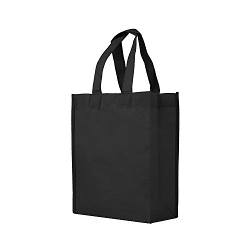 (Reusable Gift / Party / Lunch Tote Bags - 25 Pack - Black)